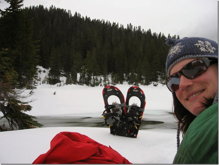 Mowich Lake Mt Rainier in winter picnic