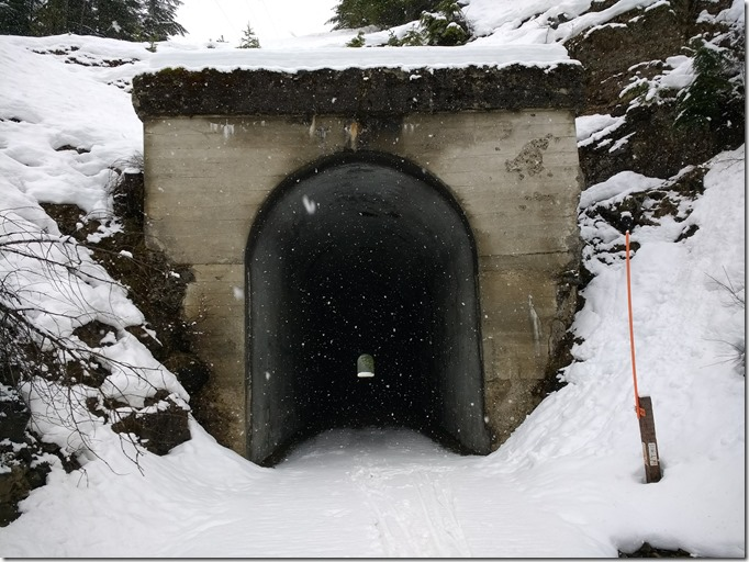 Entrance to the Whittier Tunnel on the Iron Horse Trail