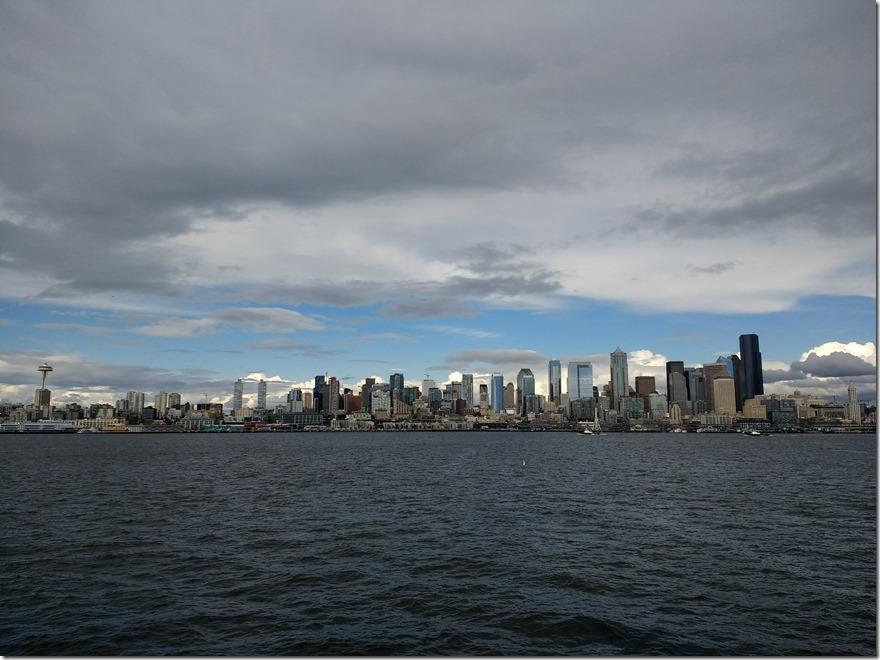 Seattle city skyline across the water