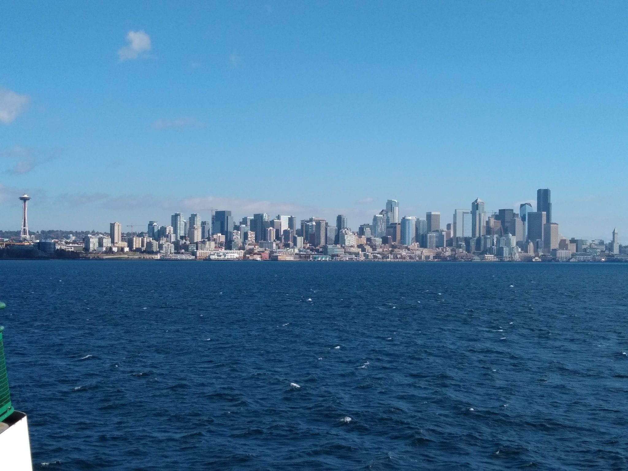 The Seattle city skyline seen from the water